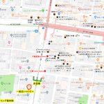 当院の近く(谷町九丁目)ランチご案内マップ