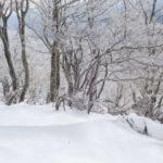 滋賀県の綿向山と霧氷とアルコールストーブ