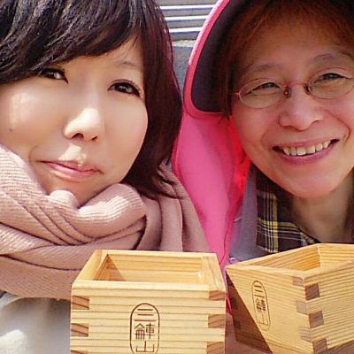 三輪山はお祭りだったので日本酒頂いた