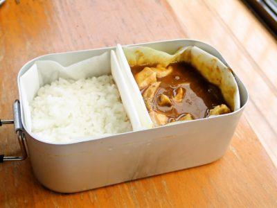 固形燃料とメスティン炊飯