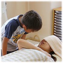 大阪のヒーリング整体院で親子ともに癒します