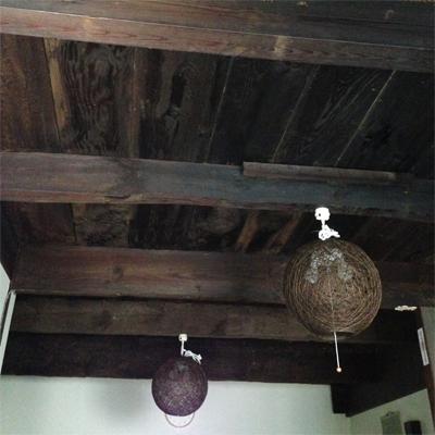 大阪市谷町九丁目のヒーリング整体院の天井
